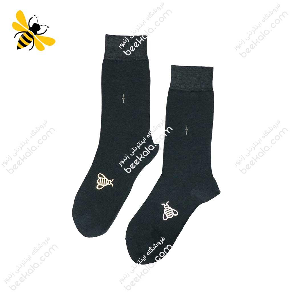 جوراب ساقدار مردانه ذغالی کد 1059