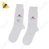 جوراب ساقدار مردانه سفید کد ۱۰۶۵
