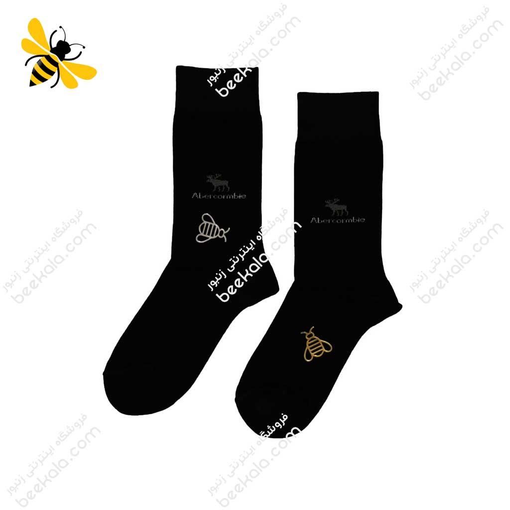 جوراب ساقدار مردانه مشکی کد 1068
