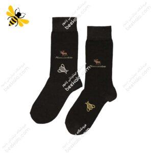 جوراب ساقدار مردانه قهوهای کد 1072