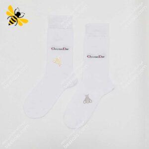 جوراب ساقدار مردانه سفید کد ۱۰۷۳