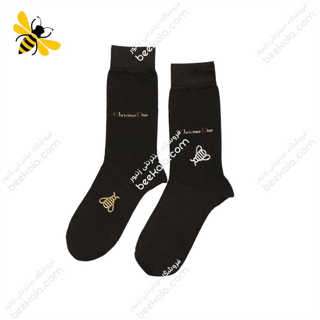 جوراب ساقدار مردانه قهوهای کد 1074