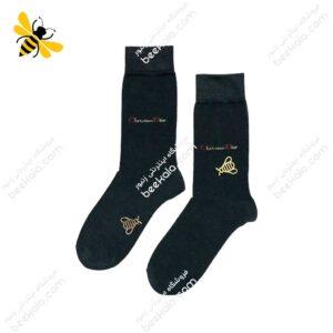 جوراب ساقدار مردانه ذغالی کد ۱۰۷۶