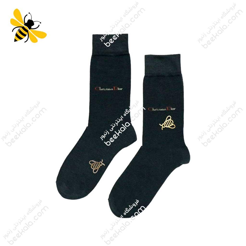 جوراب ساقدار مردانه ذغالی کد 1076