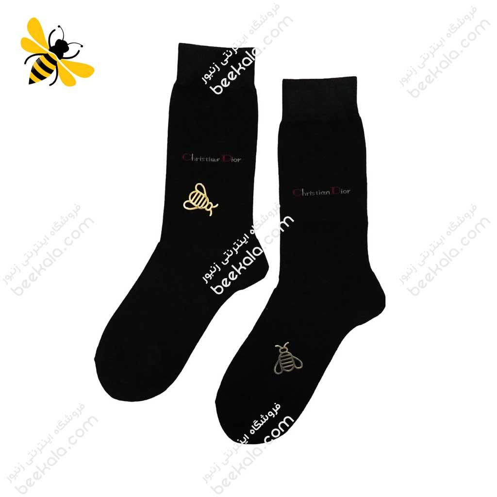 جوراب ساقدار مردانه مشکی کد 1081