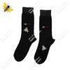 جوراب ساقدار مردانه مشکی کد ۱۰۸۷