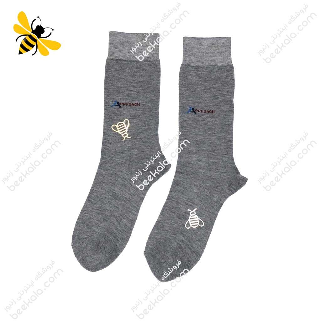 جوراب ساقدار مردانه خاکستری کد 1088
