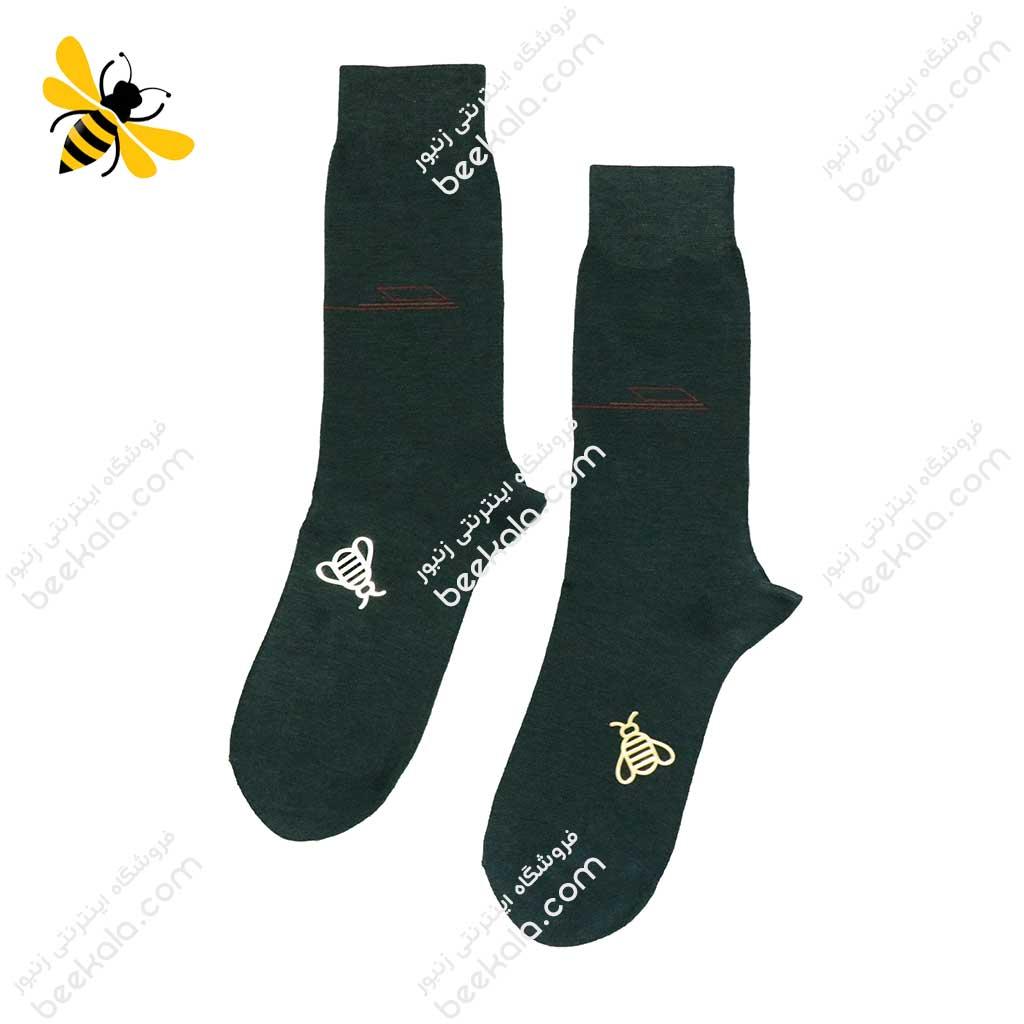 جوراب ساقدار مردانه یشمی کد 1093