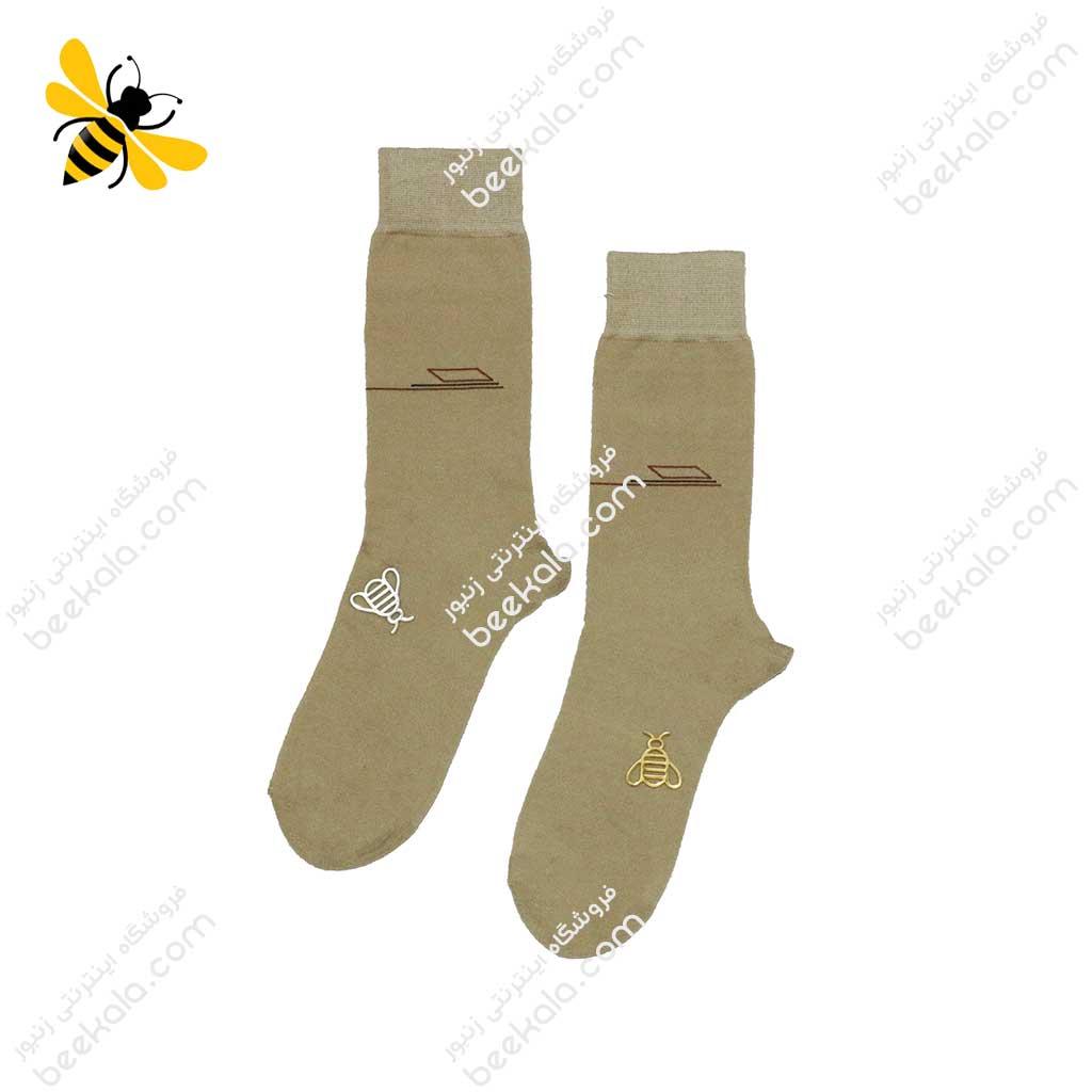 جوراب ساقدار مردانه رنگ بدن کد 1095