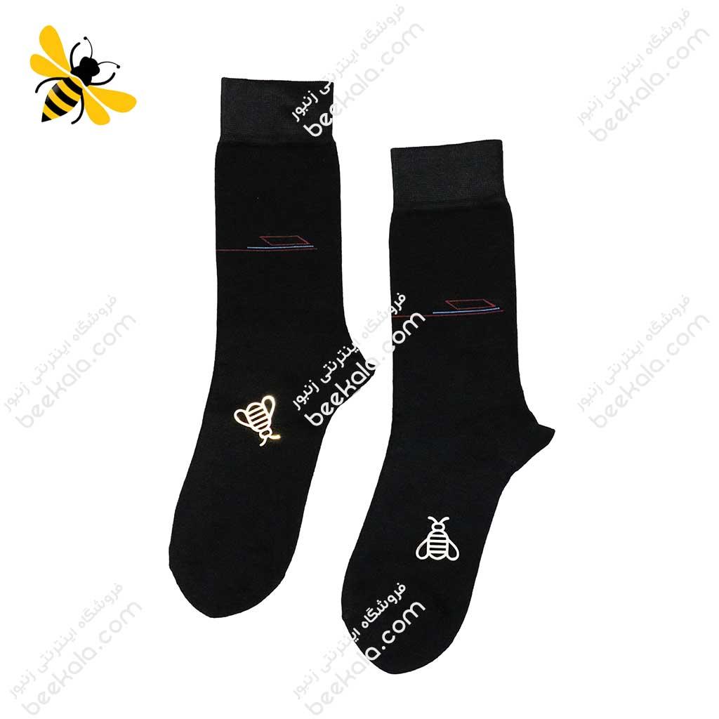 جوراب ساقدار مردانه مشکی کد 1097