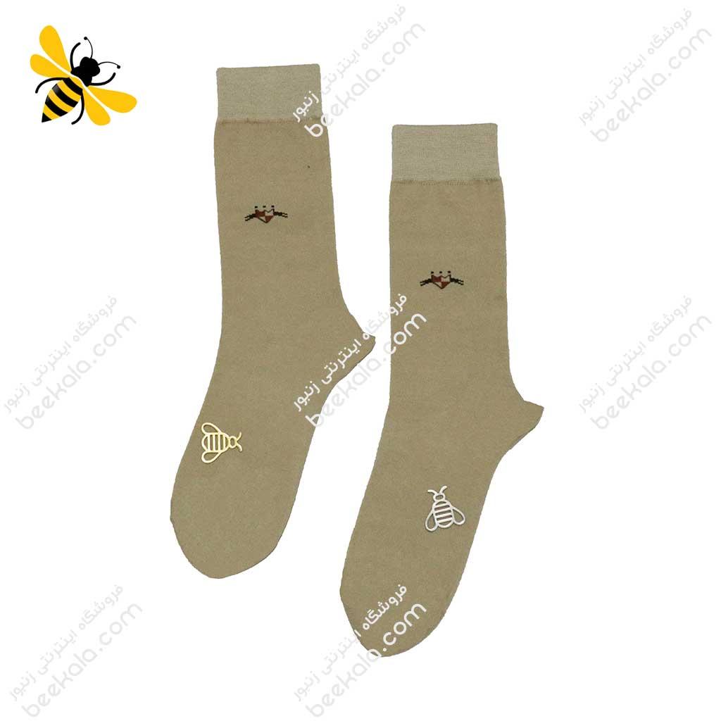 جوراب ساقدار مردانه رنگ بدن کد 1099