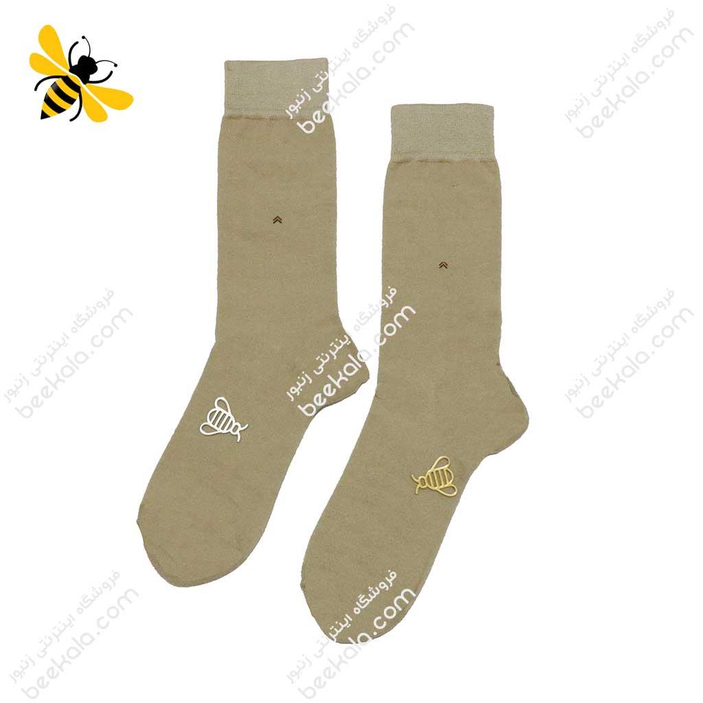 جوراب ساقدار مردانه رنگ بدن کد 1105
