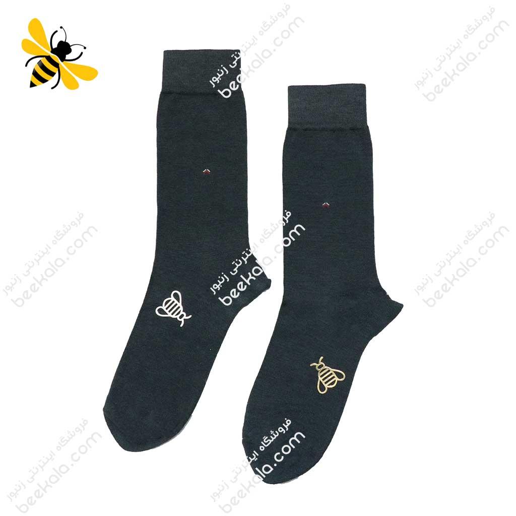 جوراب ساقدار مردانه یشمی کد 1109