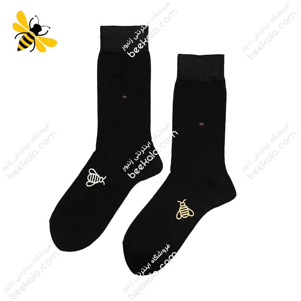 جوراب ساقدار مردانه مشکی کد 1112