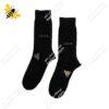 جوراب ساقدار مردانه خالدار مشکی کد ۱۱۱۳