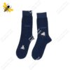 جوراب ساقدار مردانه خالدار سرمهای کد ۱۱۱۶