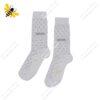 جوراب ساقدار مردانه خالدار سفید کد ۱۱۱۹