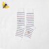 جوراب ساقدار مردانه راه راه سفید کد ۱۱۲۴
