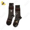 جوراب ساقدار مردانه راه راه قهوهای کد ۱۱۲۵