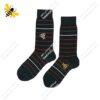 جوراب ساقدار مردانه راه راه یشمی کد ۱۱۲۷