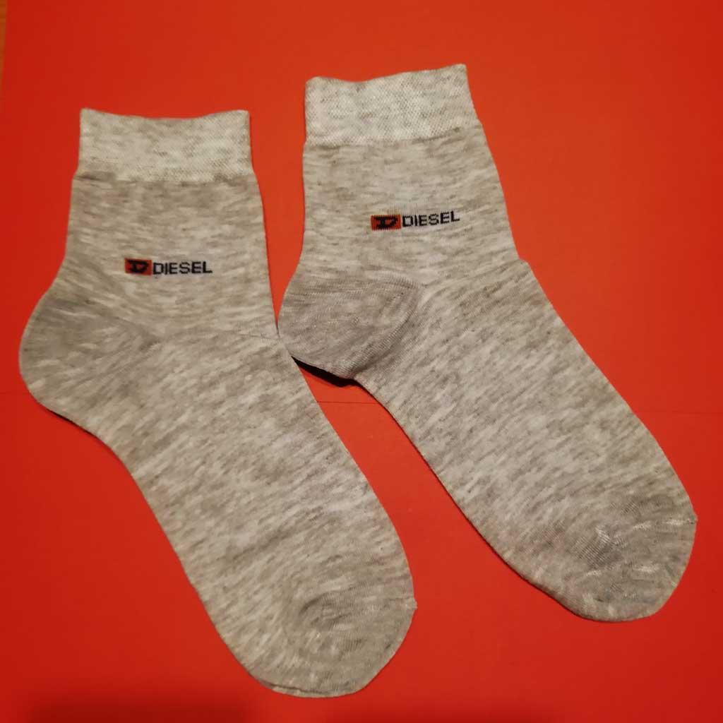 جوراب نیم ساق مردانه خاکستری کد 1132