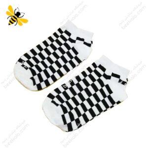 جوراب مچی شطرنجی سفید کد ۱۱۵۶