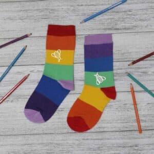 جوراب ساقدار رنگین کمان کد ۱۱۷۸