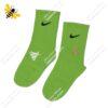 جوراب ساقدار ورزشی سبز کد ۱۱۹۲