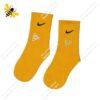 جوراب ساقدار ورزشی زرد کد ۱۱۹۴