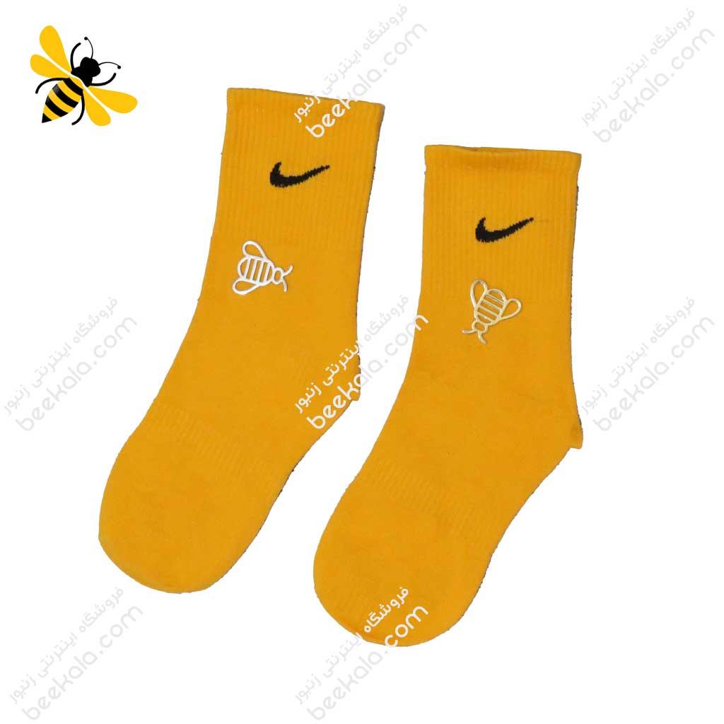 جوراب ساقدار ورزشی زرد کد 1194